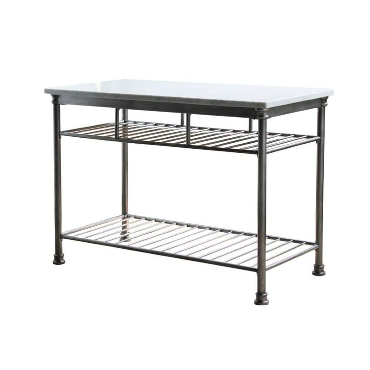 Home Styles Orleans Butcher Marble Kitchen Island In Gray
