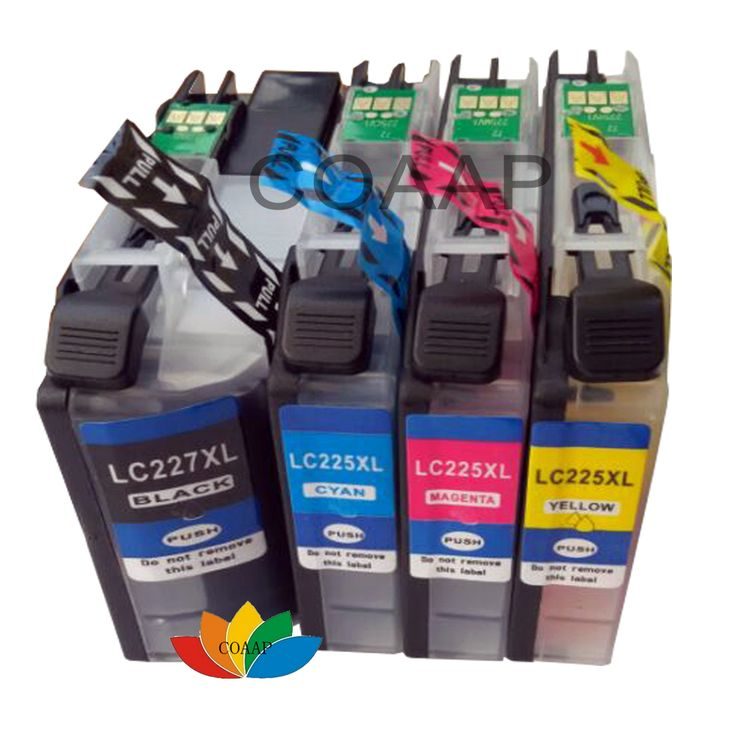4x Compatible brother Printer ink cartridge LC225 LC227 for MFC-J5620DW MFC-J5625DW MFC-J5720DW MFC-J4620DW Printer #Affiliate