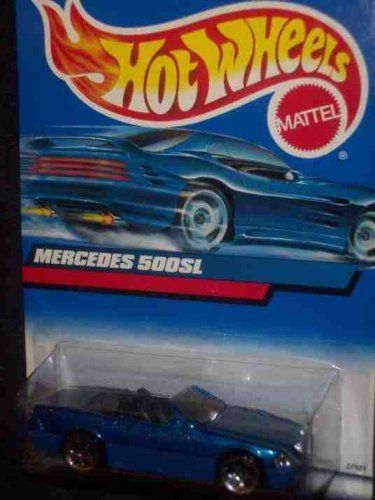 #2000-134 Mercedes 500SL Blue Base Collectible Collector Car Mattel Hot Wheels 1:64 Scale by Mattel. $2.45. 2000 - Mattel - Hot Wheels - Collector #134. New - Mint - Rare - Limited Edition - Collectible. Out of Production - 1:64 Scale Die Cast Metal. Mercedes 500SL - Convertible - Metallic Blue over Flat Blue. Tinted Windiw - Black Interior - 5 Dot Custom Wheels. 2000 - Mattel - Hot Wheels - Collector #134 - Mercedes 500SL Convertible - Metallic Blue over Flat Blue - ...