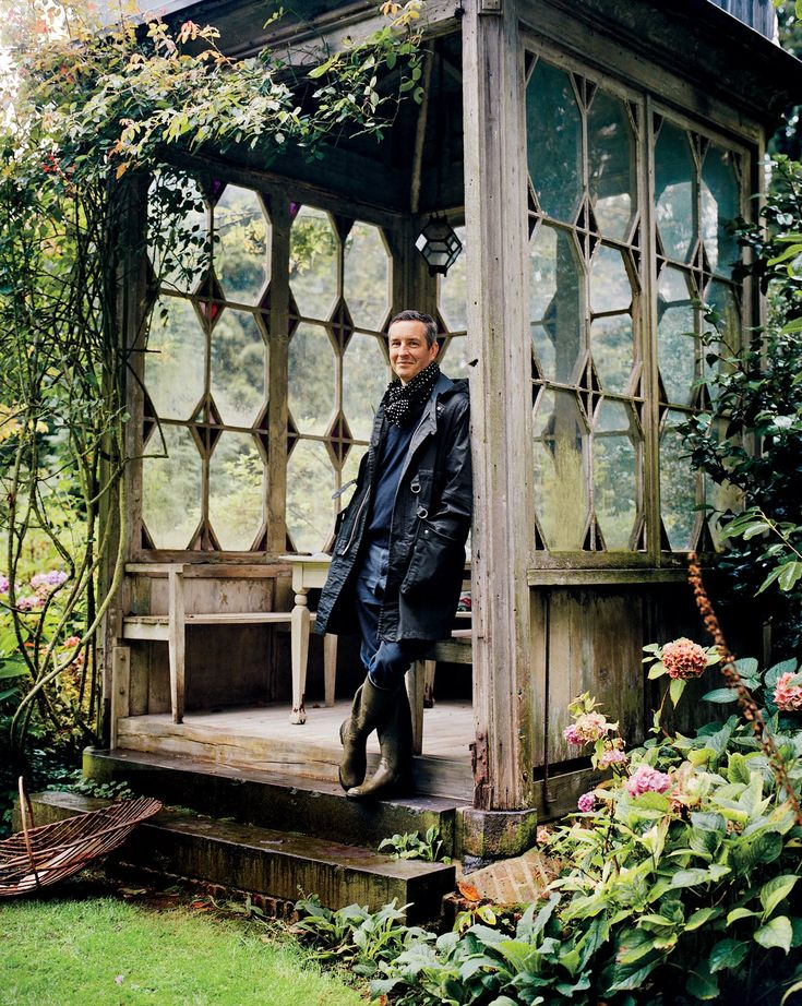 This restored gazebo provides a tranquil sanctuary for Dries Van Noten.