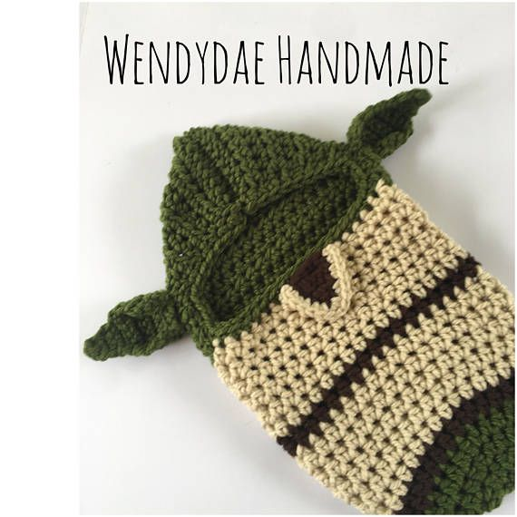 Newborn Crochet Pattern, Star Wars inspired baby Cocoon, newborn photo prop, Instant PDF crochet pattern download