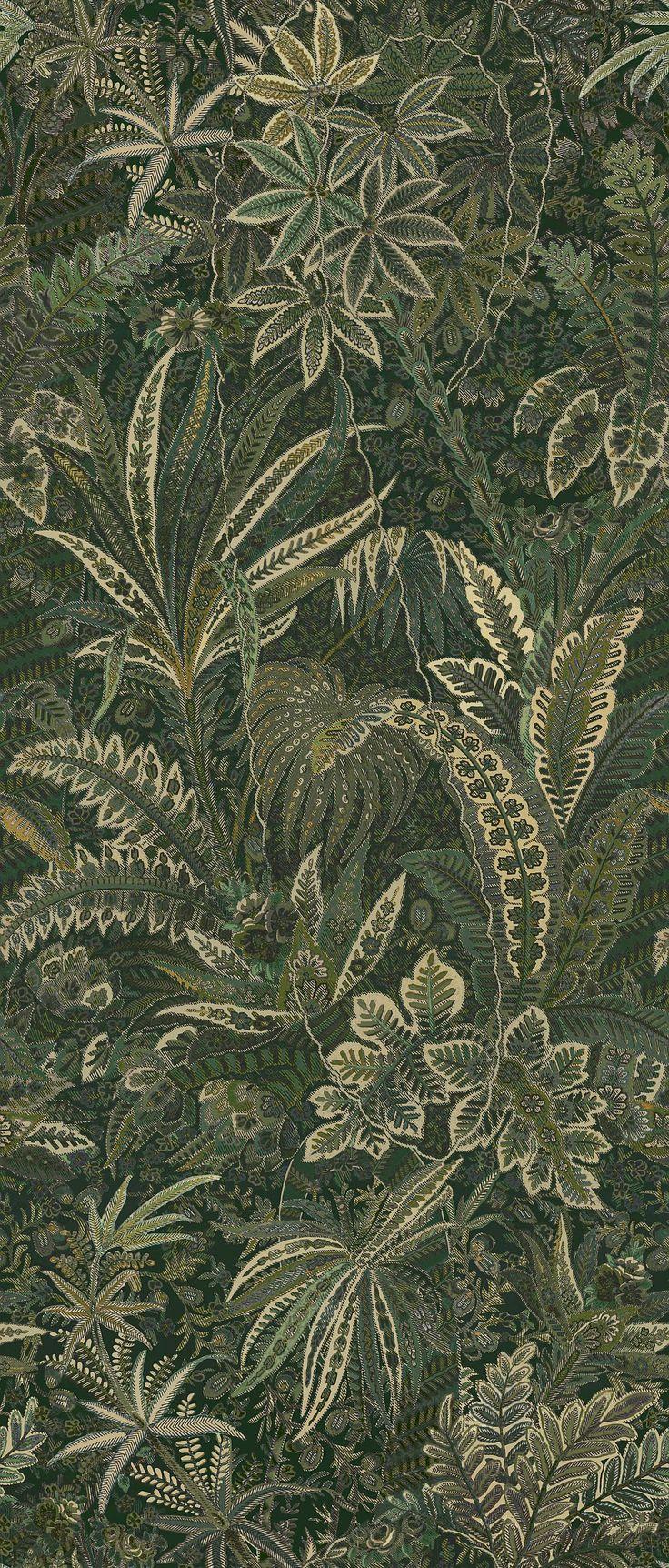 Home diy wallpaper illustration arthouse imagine fern plum motif vinyl - Liberty Fabrics Shand Forest Wallpaper Main Image