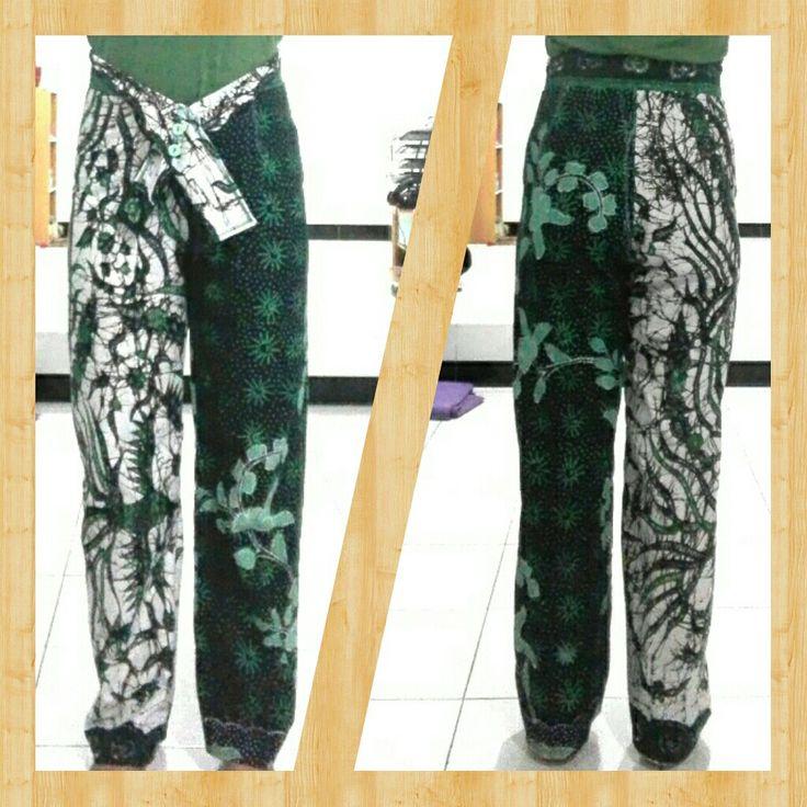 Green batik pants - self made
