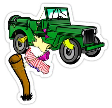 military vehicle off road adventure funny sticker