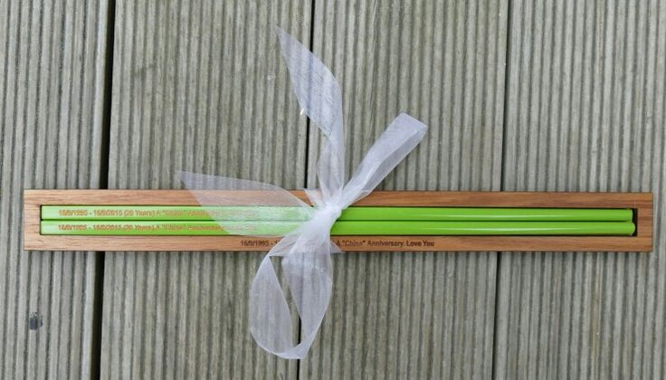 Chopsticks Engraved in laser cut timber case