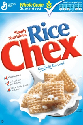 Chex- great gluten free cereal! Makes a great fried chicken too