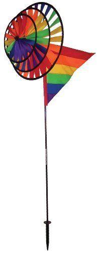 Rainbow Garden Wind Spinner Wheel Yard Kinetic Metal Art Windmill Outdoor Decor #KandN