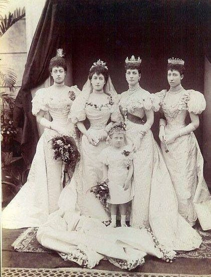 Princess Victoria of Wales, Princess Maud of Wales, Lady Alexandra Duff, the Princess of Wales, and Princess Louise, Duchess of Fife