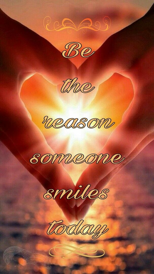 Be the reason someone smiles today ⊰❁⊱