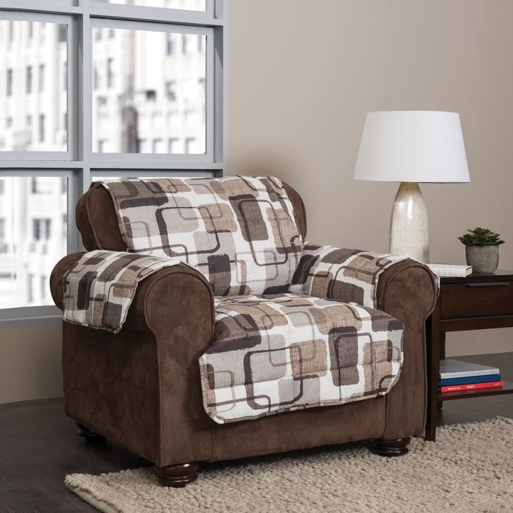 Update your solid furniture with this contemporary, geometric pattern. Shades of greys and browns match neutral walls and floors for an instant fresh look. Fabric: Polyester Style: Furniture Protector