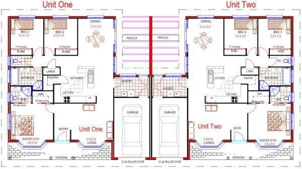 Swell 6 Bed Duplex Design House Plan 230Du Duplex Stuff In 2019 Beutiful Home Inspiration Xortanetmahrainfo
