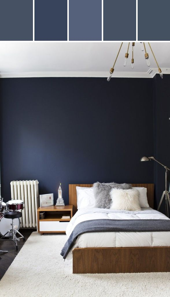 Navy Walls Designed By Lisa Perrone | Stylyze Creative Director via Stylyze