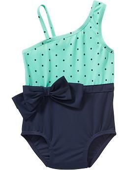 One-Shoulder Swimsuits for Baby- got it for Lo, looks like it's pretty much out of stock now though :/