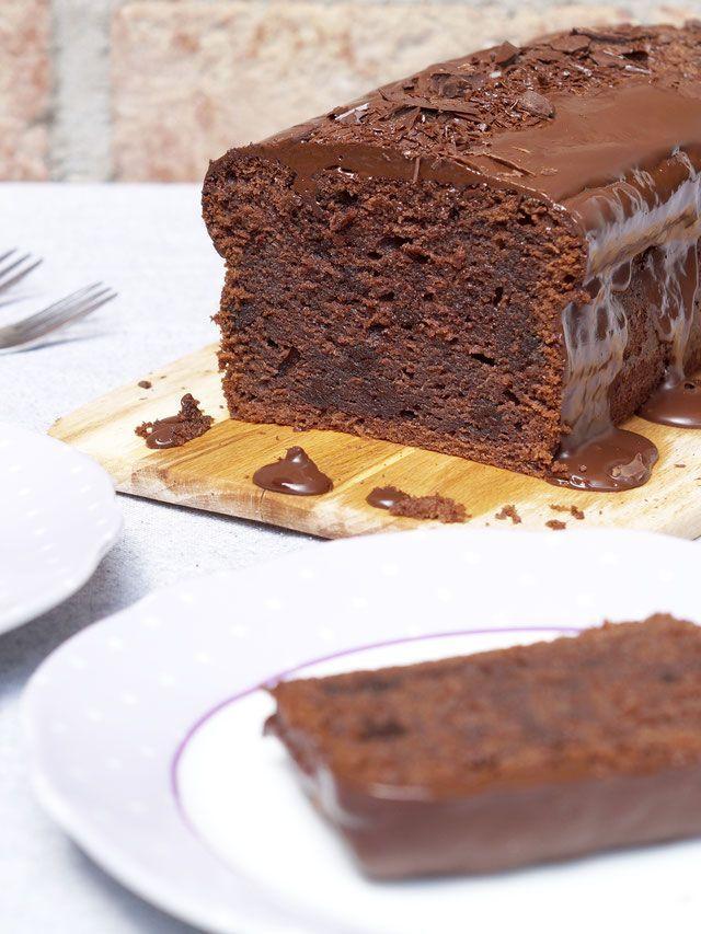 Einfacher, sehr schokoladiger Schokoladenkuchen