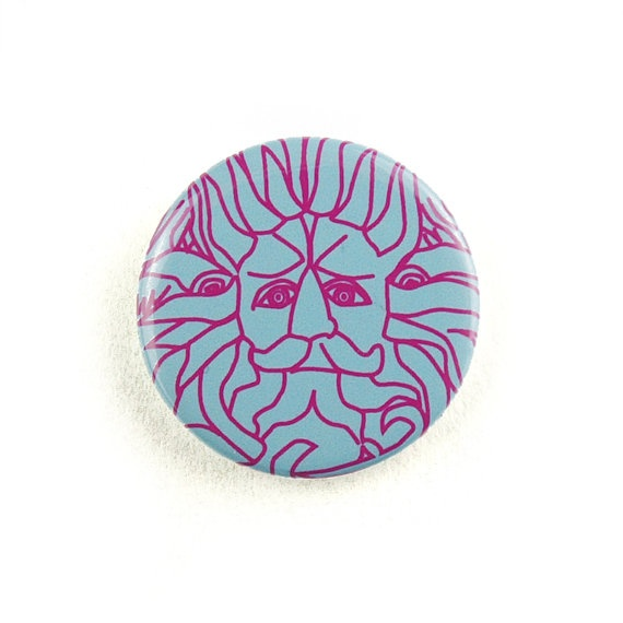 The city of Bath Gorgon 1inch button badge by KateMcDonnellDesign on Etsy, $2.30