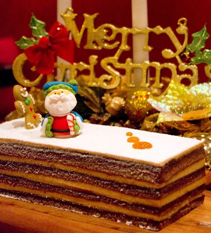 Milk Tea Yule Log Cake