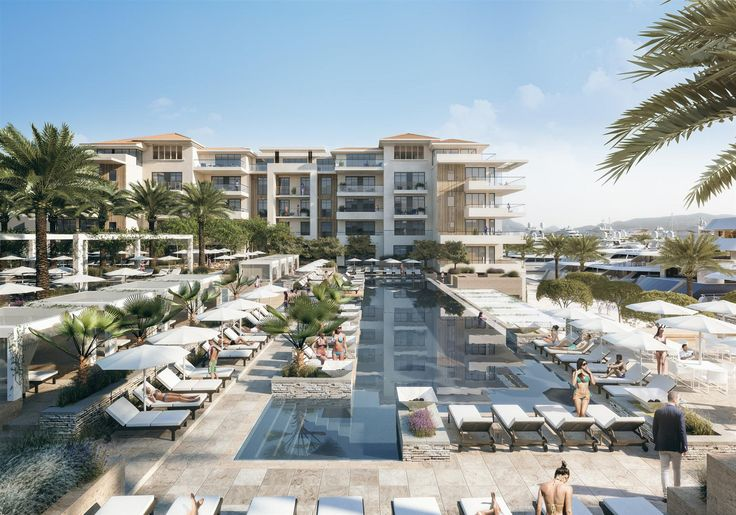 Tivat, Porto Montenegro - residential luxury complex Regent Pool Club, the latest residential and hotel complex in Porto Montenegro. #realestate #montenegro