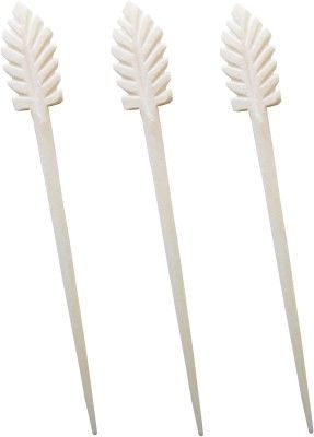 "An attractive Maple Leaf Design Marble made long Hair Stick Combo Set is made up of pure marble and is very light weighted with handmade finishing. This beautiful hair pin specially design for fashionable young girls and woman. The size of this stick measures is length ""15.5 cm"" and width ""1.3 cm""."