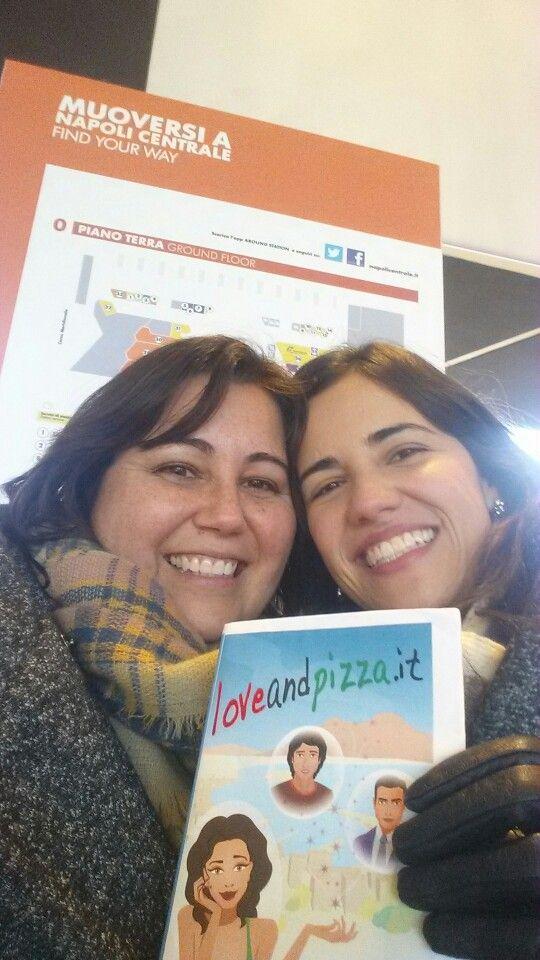 #366grateful ~ The writer and the inspiration...  #Loveandpizzapuntoit #napoli #meetingcarolina #amwriting