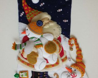 Finished Christmas Stocking - Mary Engelbreit's December Hugs