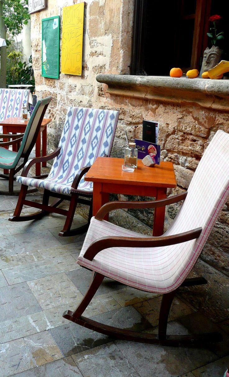 Mallorca Alcudia old Town cafe Ronda