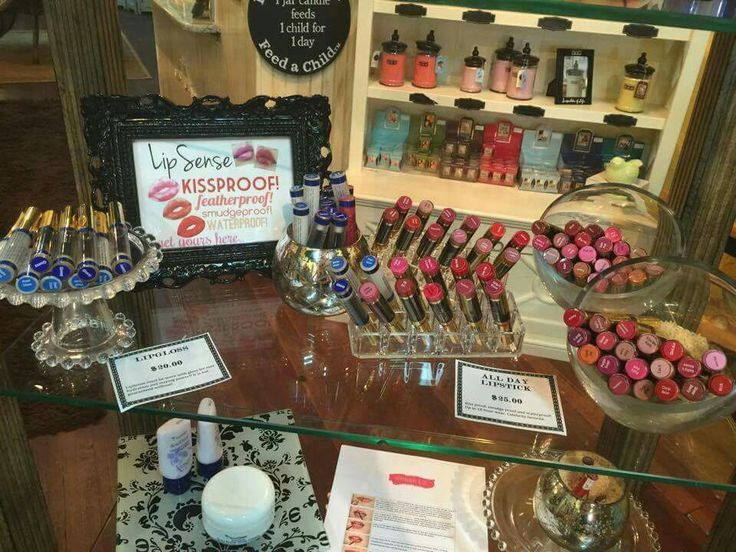Super cute LipSense display at a boutique. If you own a salon or boutique and…