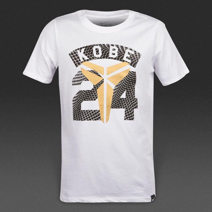 Boys Nike T-shirt KOBE Short Sleeve Gym Summer Dri Fit Size XL White Gold