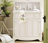 Lucca High Backsplash Single Sink Console, Antique White
