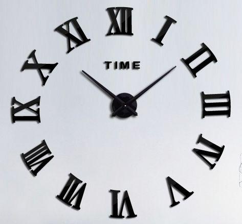 Tee-se-itse iso seinäkello. Tällä suurella kellolla saat seinällesi näyttävyyttä. Kello sommiteltavissa haluttuun kokoon välillä 70 - 100cm (halkaisija).  Kellon osat ovat tiivistä vaahtomuovia, pintaan kiinnitetään musta tarra. Kello toimii yhdellä AA-paristolla (HUOM! Paristo ei sisälly pakkaukseen!)  Pakkaus sisältää kaikki kellon osat, erillisiä liimoja ei tarvita.  Kellon väri musta.