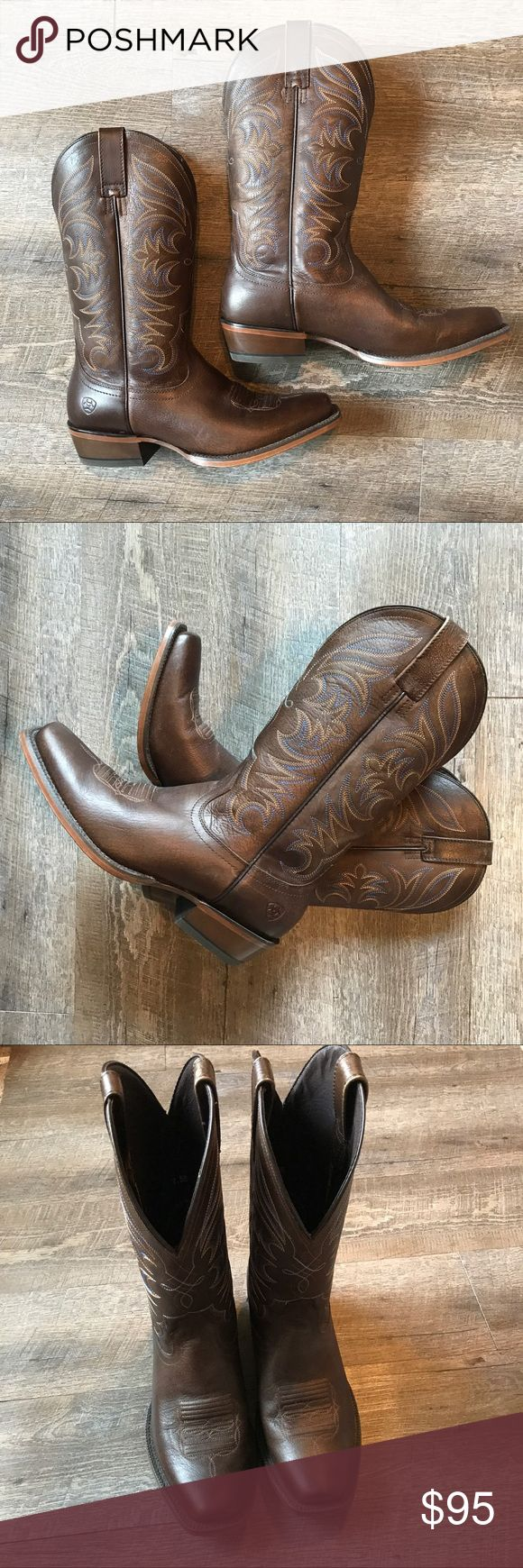 Brand New Ariat Cowboy Boots Brand new Ariat boots (worn once)! Size 9.5 EE. Ariat Shoes Cowboy & Western Boots