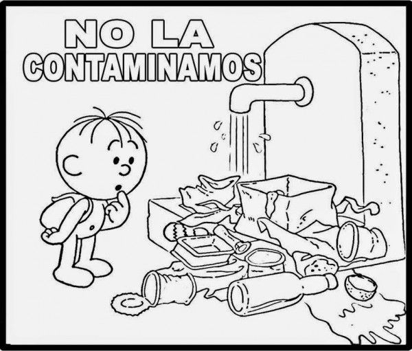 Pin De Maria Romina En Ninos Agua Para Colorear Cuidado Del Agua Dia Mundial Del Agua