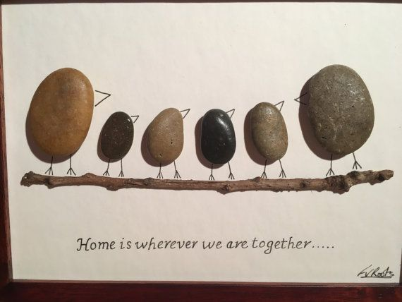 Home is wherever we are together by PebblePerfectCrafts on Etsy
