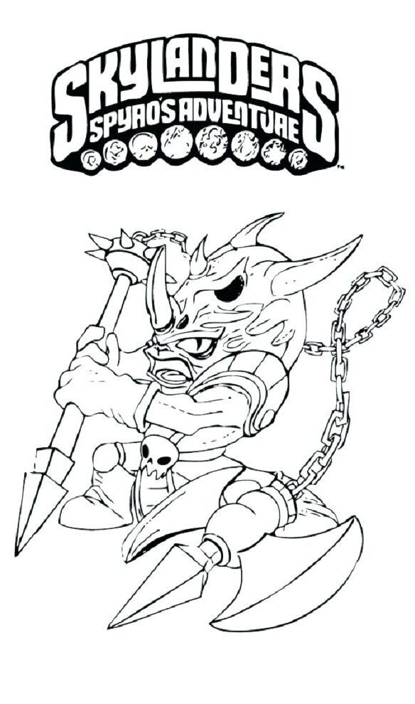 Skylanders Giants Thumpback coloring page | Free Printable ... | 990x584