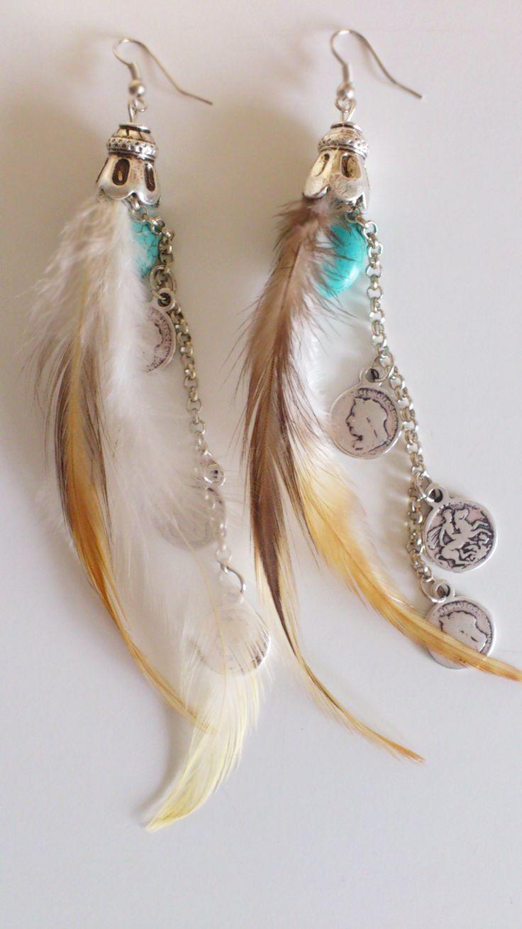 Bohemian Daydreamer Earings, check www.mintfeather.com, BOHEMIAN   GYPSY   HIPPIE STYLE, handmade jewelry
