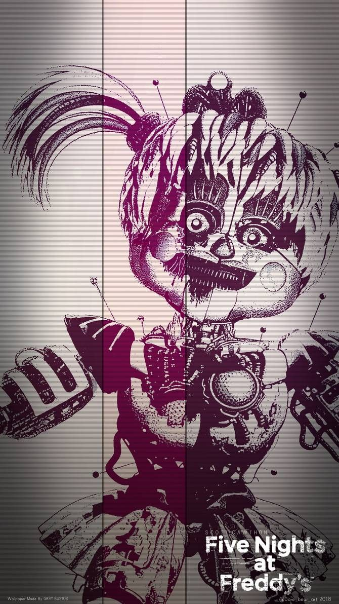 Five Nights At Freddy S Circus Baby Wallpaper Fnaf Scrap Baby Wallpaper By Garebearart1 On Deviantart Fnaf Wallpapers Fnaf Drawings Fnaf Baby