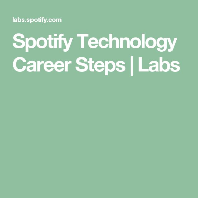 Spotify Technology Career Steps | Labs