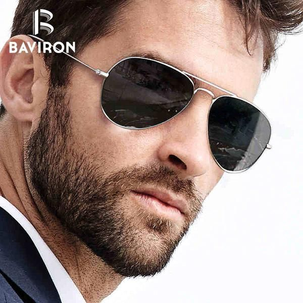 b24418864e  FASHION  NEW BAVIRON Aviator Sunglasses Unisex Vintage Pilot Sunglasses  Women Brand Design Night Vision Goggles Glasses for Driving Oculos