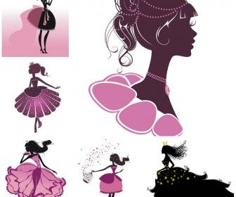 Cartoon princess vector