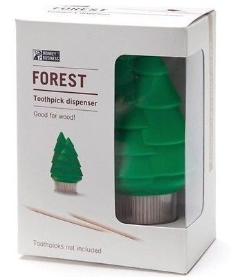 Forest Tree Green Xmas Christmas Toothpick Dispenser