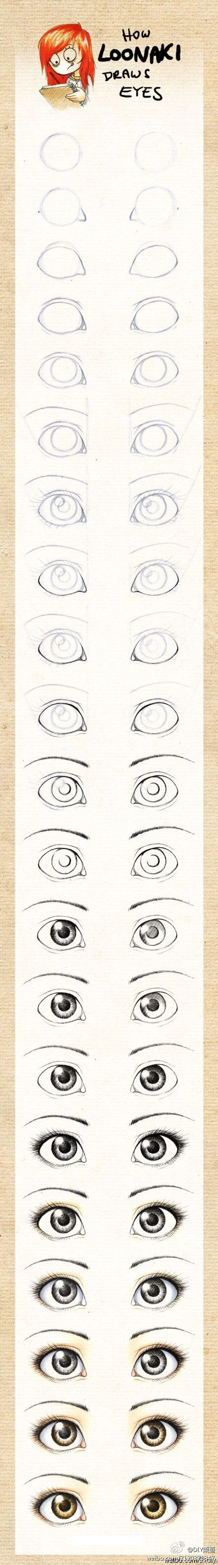 How to draw eyes by Momof3b2g