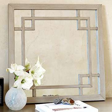 greek key mirror - could I use this idea to frame our huge bathroom mirror?