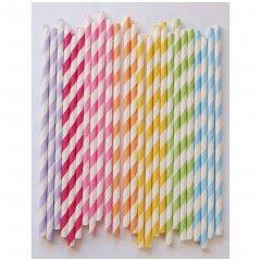Χάρτινα καλαμάκια - Rainbow