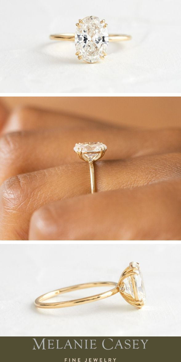 14k Yellow Gold Plated Vintage Lab Diamond Solitaire Engagement Ring Size H-Q