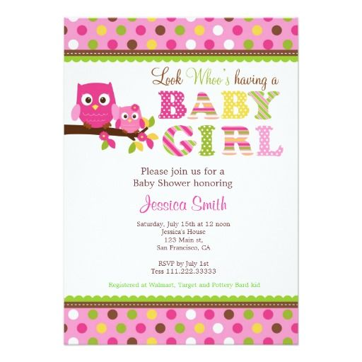 240 best Owl Baby Shower Invitations images on Pinterest