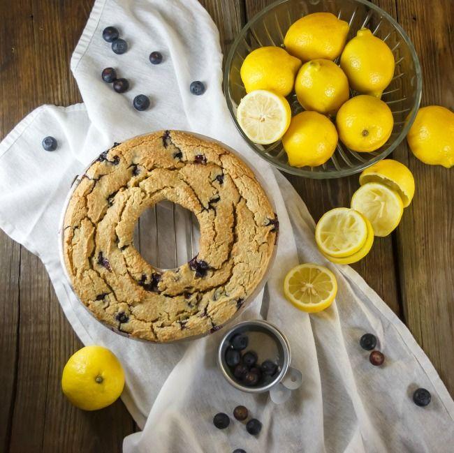 Moist Lemon and Blueberry Cake | vegan and gluten free!