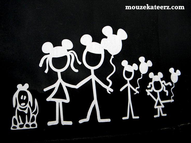 Best Cricut Vinyl Stick Figures Images On Pinterest Stick - Window stickers for cars family
