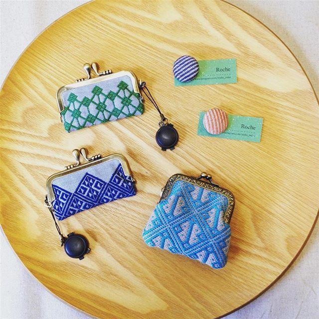 11 Oct. 2017 ☀︎ こんにちは!今日もとっても良いお天気の松江です。Rocheさん @roche_mika の新作が届いています♡  ボタン ¥540+tax  コインケース ¥1,600+tax  印鑑ケース ¥1,600+tax  #kogin #japanesetraditional #embroidery #こぎん刺し #刺し子 #ハンドメイド #craftsandquilts月と星 #カラコロ工房2階より