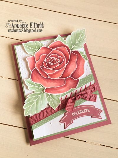 I water colored the rose from Rose Wonder in Blushing Bride, Sweet Sugarplum and Mint Macaron. http://aestamps2.blogspot.com/2016/06/sweet-sugarplum-rose.html happy stamping! Annette