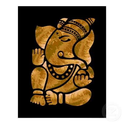 Ganesha Painting Poster - would look wonderful as a sand or coffee painting