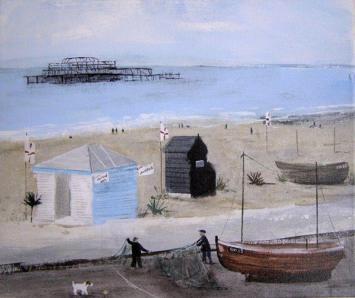 hannah cole: brighton beach (giclee on canvas)